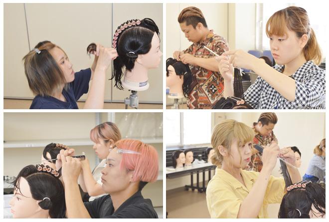 全国理容美容学生技術大会 九州地区大会へ向けて!